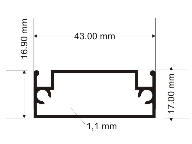 Antimosquito Large Transom Profile