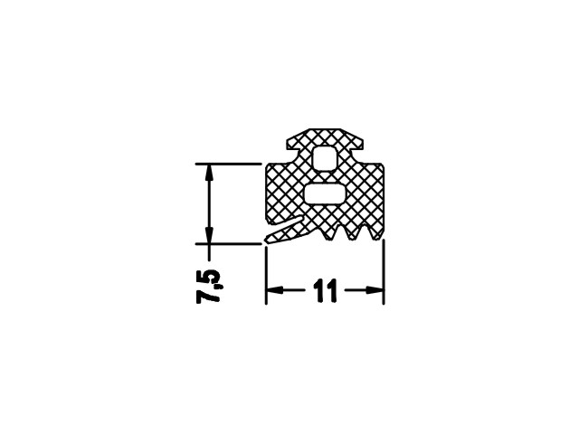Gasket 3 Horizontal Mullion