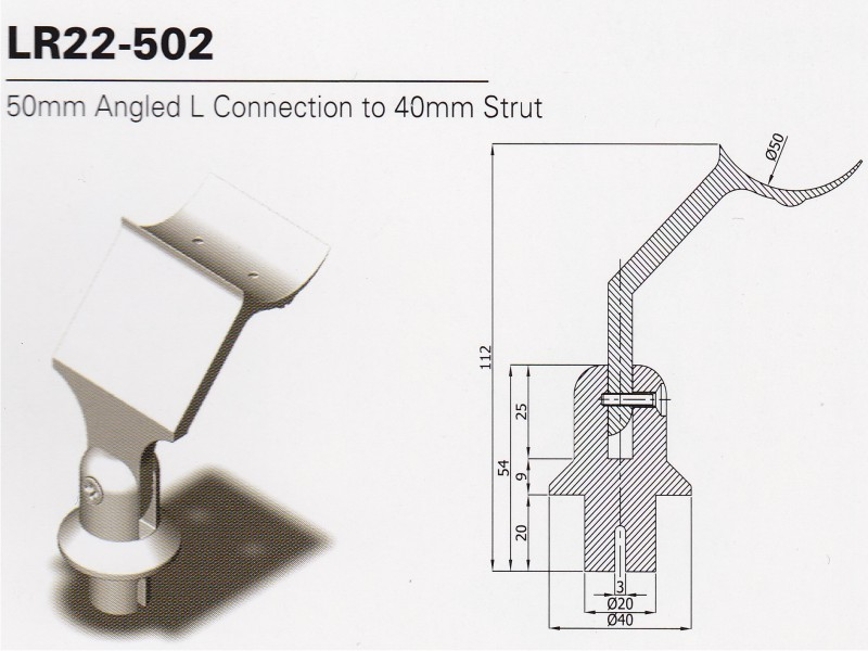 Catching system for handrail